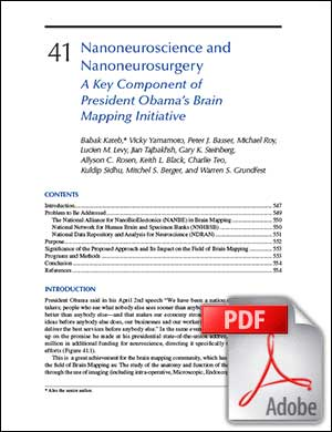 Nanoneuroscience and Nanoneurosurgery - A Key Component of President Obama's BRAIN Mapping Initiative